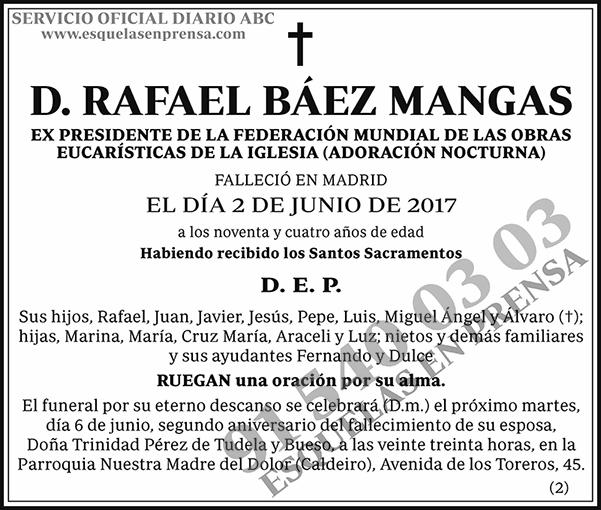 Rafael Báez Mangas